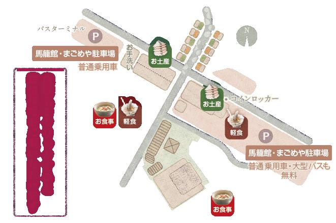 馬籠宿マップ