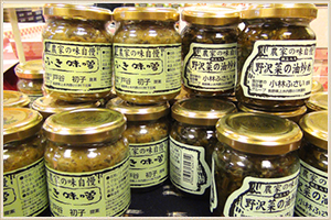 ふきみそ、野沢菜の油炒め