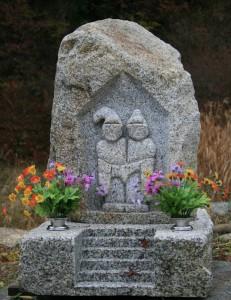 島田公園の道祖神 花