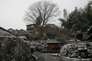 雪景色 中山道 木曽路 馬籠 妻籠 1