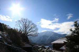 木曽路 馬籠 氷雪の火まつり 雪化粧 4d